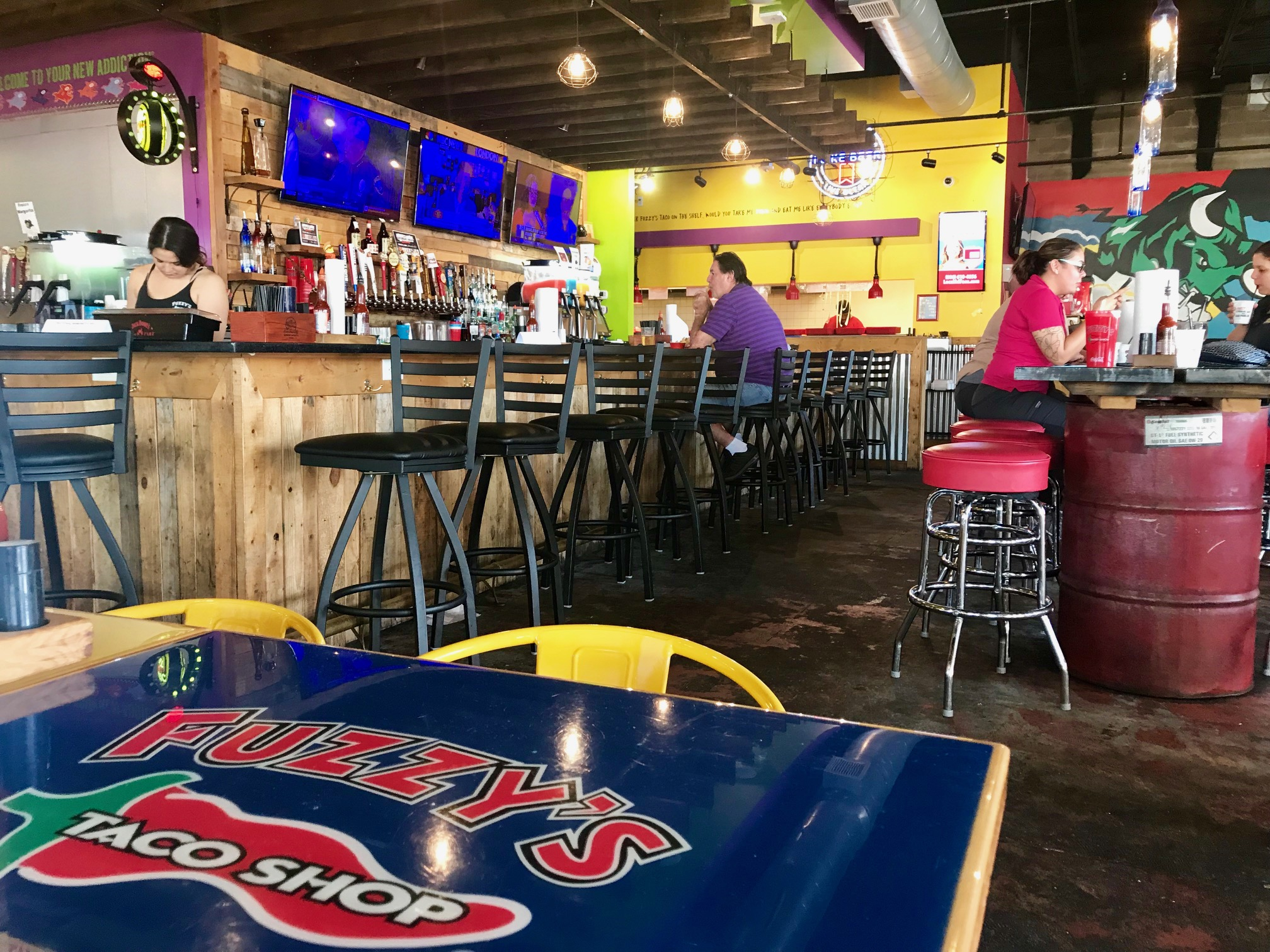 Photo taken inside Fuzzy's Tampa
